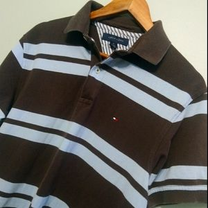 🎉HOST PICK 💙TOMMY HILFIGER brown and blue polo